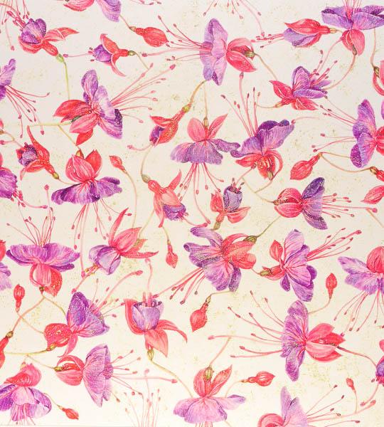 Fucsia bloemen, dessin nr. 19